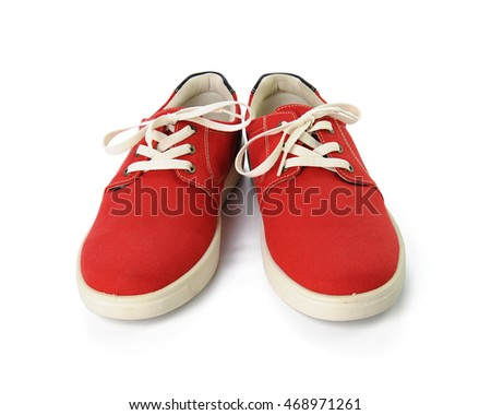 red shoes islated on white background