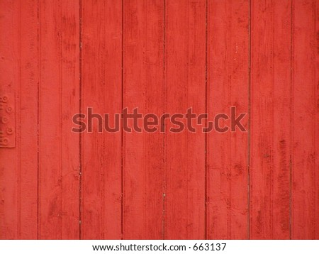 RED SIDING ON BUILDING BACKGROUND
