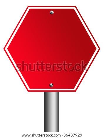 Red signal over white background. Empty to insert text or design