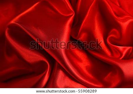 red silk - stock photo