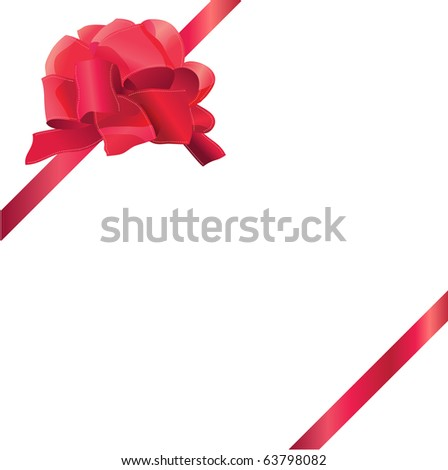 Red silk bow and ribbon frame. Raster version. Vector version is in my gallery.