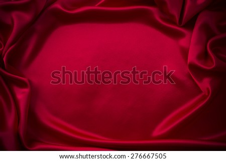 red silk fabric background  - stock photo