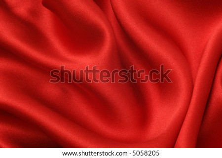 Red silk textile background - stock photo