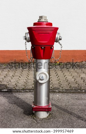 red silver fire Hydrant