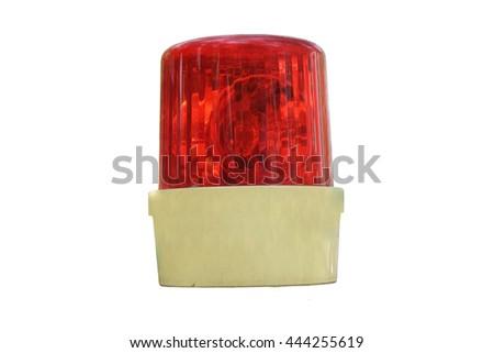 red siren on isolate - stock photo