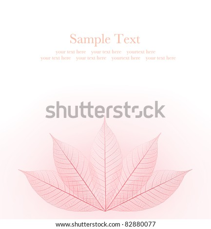 red skeleton autumn leaf background