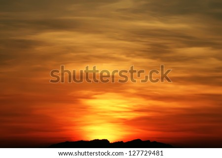 Red sky - stock photo