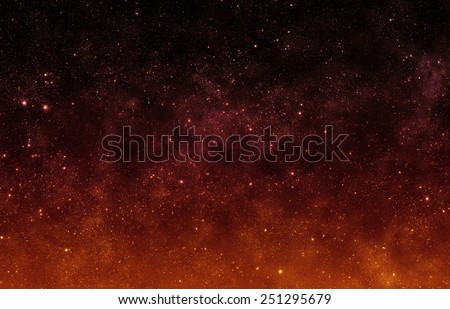 Red Sky - Elements of this Image Furnished by NASA - stock photo