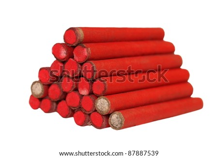 red small firecrackers - stock photo