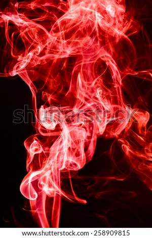 Red Smoke abstract background.