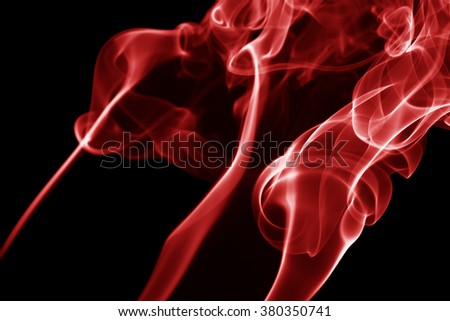 red smoke on the black background