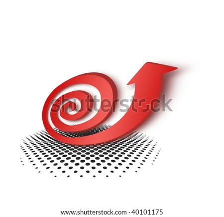Red snail arrow pattern