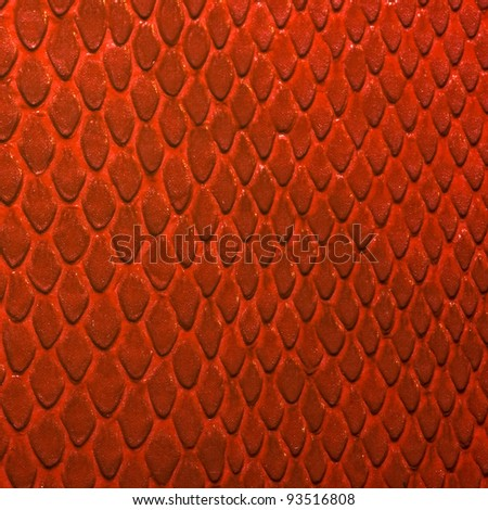 red snake texture - stock photo