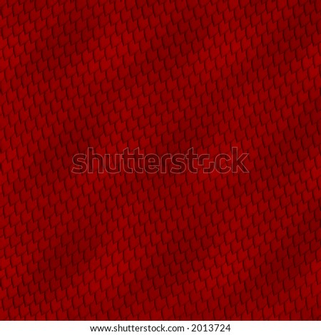 Red snakeskin abstract image for backgrounds or wallpaper. - stock photo