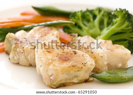 Red Snapper with Vegetable - stock photo