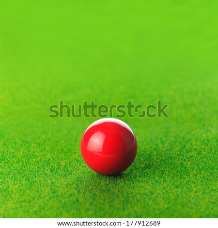 Red snooker ball - stock photo