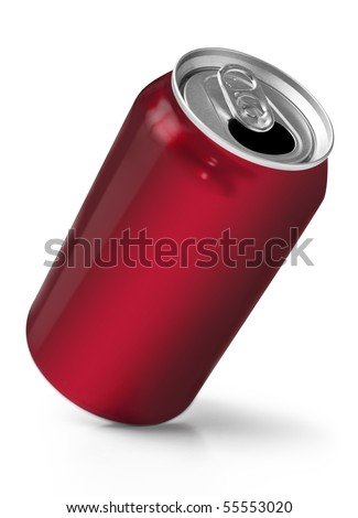 Red soft drink can - stock photo