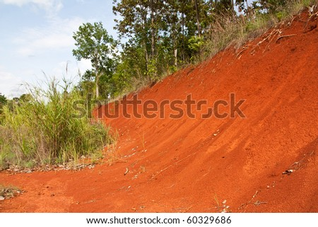 red soil background