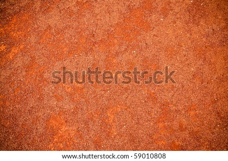 Red soil texture - stock photo