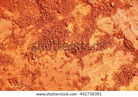 Red Soil Texture background - stock photo