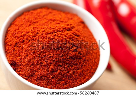 red spicy chili - stock photo