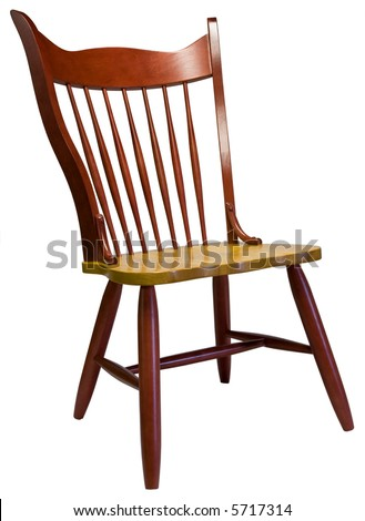 Red Spindle Back Country Dining Room Chair