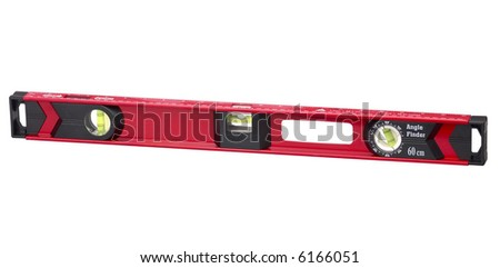 Red Spirit Level - isolated on white