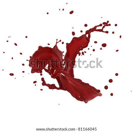 red splash - stock photo