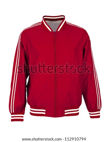 Red Sport Jacket Isolated On White Stock Photo 112910794 ...
