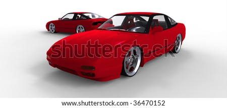 Red Sports car - stock photo