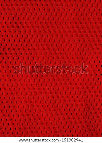 Red sports jersey - stock photo