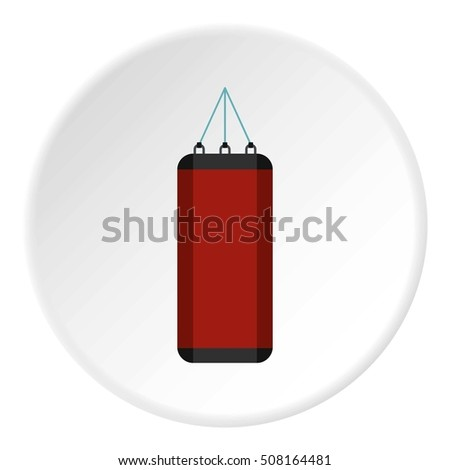 Red sports pear icon. Flat illustration of red sports pear  icon for web