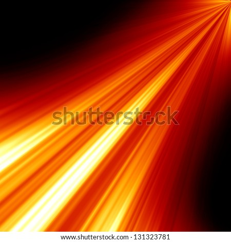 Red spot light with room for an added object - stock photo