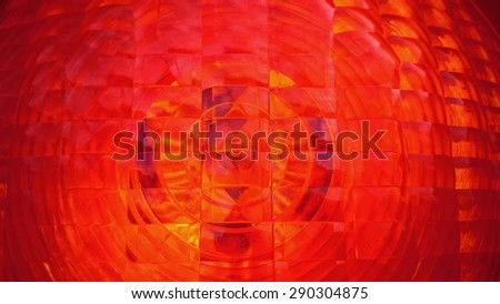Red spotlight traffic light as background, close up - stock photo