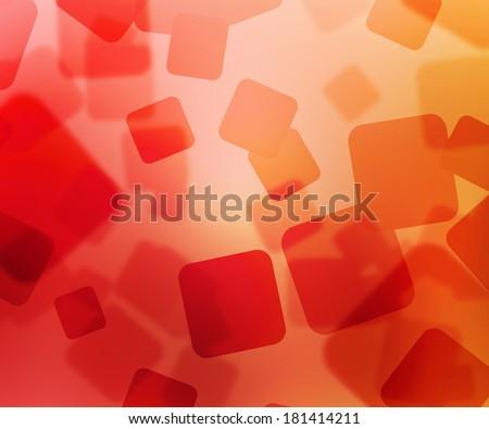 Red Squares Bokeh - stock photo