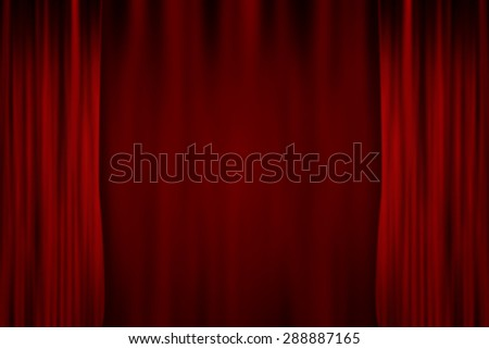 Red Stage Curtain illustration