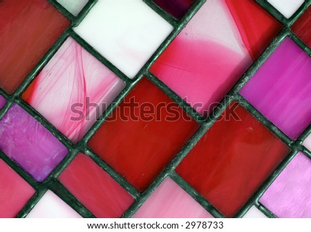 Red Stained Glass Panel