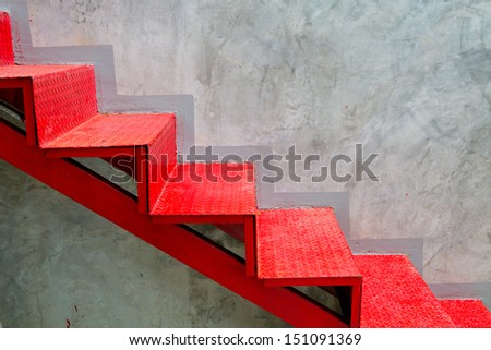 red stair - stock photo