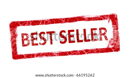Red stamp best seller over white background - stock photo