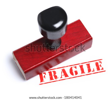 red stamp with Fragile