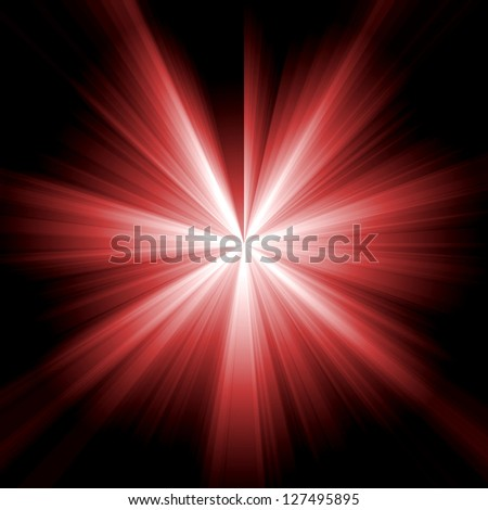Red star burst - stock photo