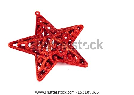 Red star for christmas  - stock photo