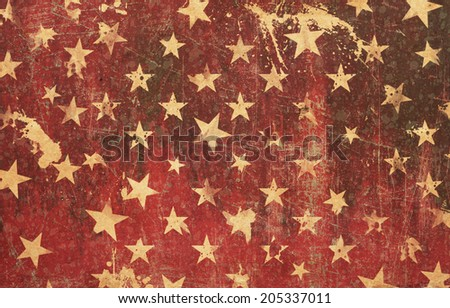 Red star grunge background texture - stock photo