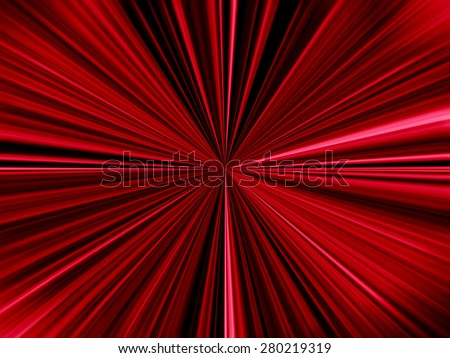 Red Starburst - stock photo