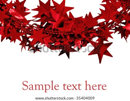 Red  stars - stock photo