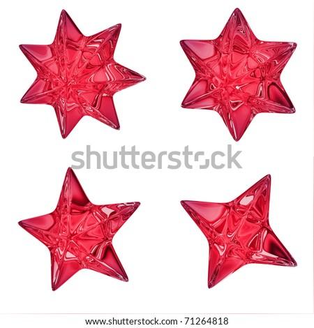 Red stars - stock photo