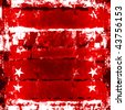 Red Stars And Stripes Grunge - stock photo