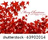 Red stars isolated  Merry christmas E-card on white background [new] - stock vector