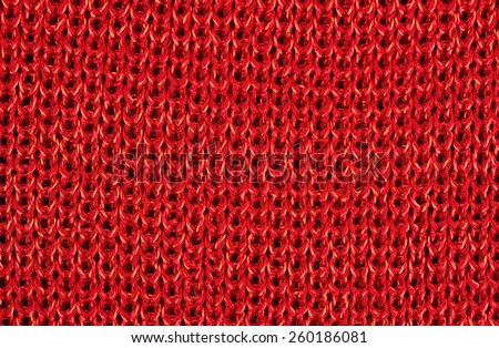 Red stockinet as background texture - stock photo