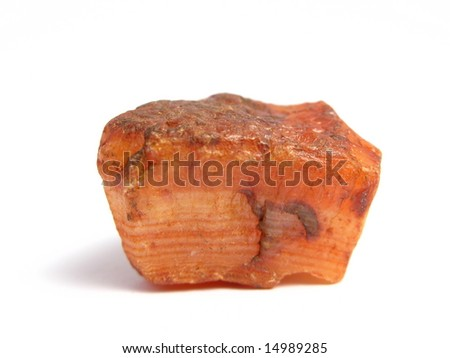 Red stone on white background